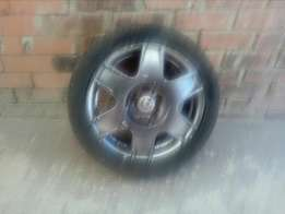 16 inch rims and tyers but tyers needs replacing