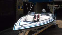 Raven bow rider with 90 Mariner with warranty
