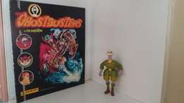 Ghostbusters Sticker Album and Action figure