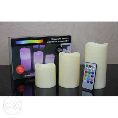 Led remote control electronic candle