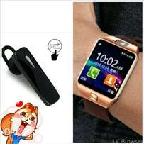 watch phone + Bluetooth earphone