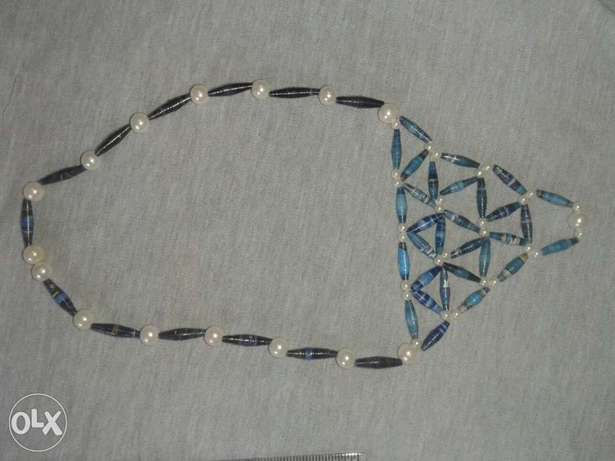Paper bead and pearl necklace Kasarani - image 1