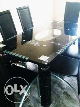 Modern Six Sitter Glass Dining Table & Chairs Lagos Mainland - image 1