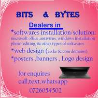Software, web design, posters design etc