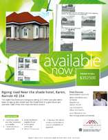 BANK AUCTION 4 Bedroom house bungalow in Karen near the Shade hotel