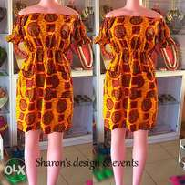 Simple ready to wear Ankara gown ( sizes 8-12)
