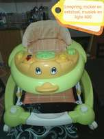 Walker, Rocker and feeding chair