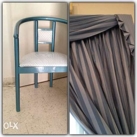 bleu curtain room from wardé & chaire italy non used