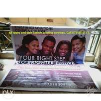 High quality all Type and size banners. Call NUMBER on the picture.