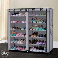 Two column shoe rack