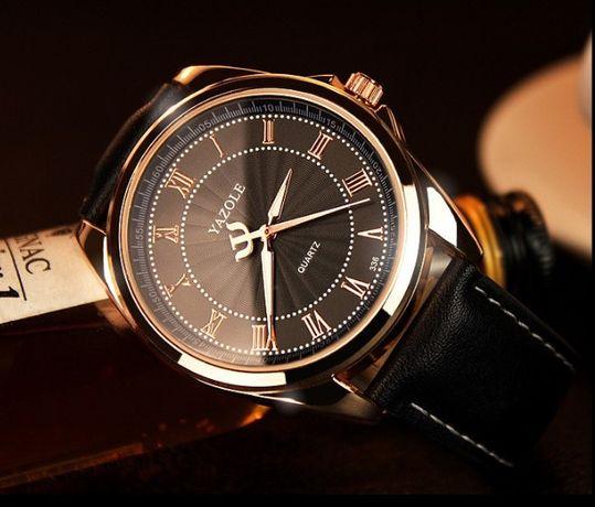 Мужские кварцевые часы YAZOLE 336 Кожаный ремешок Красный Лиман -  изображение 4 bcd5b824cdabf