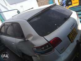 Audi A3 with damaged front part