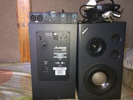 monitors and audio interface