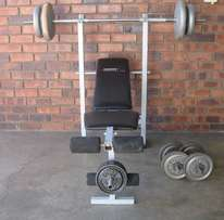 Trojan bench and weights