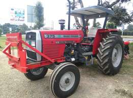 MF375 with a Grill and 3 Disc Plough,75Horse Power,Delivery and Warran
