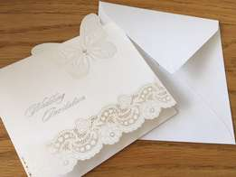 Butterfly Laser Cut Wedding Invitations - 100 units