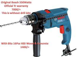 Bosch Drill 550Watts (1Yr warranty)