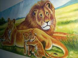 Cheap King Of The Jungle Painting
