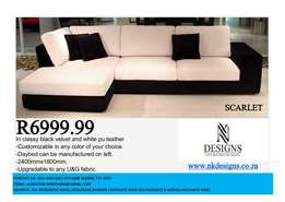 Modern 2 seat with daybed sofa