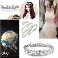 Wedding gown, complete bundle (used)