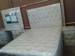 Bed room suit with double bed. .