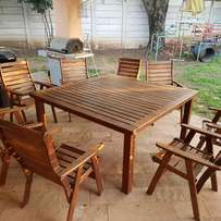 Patio table and 8 chairs