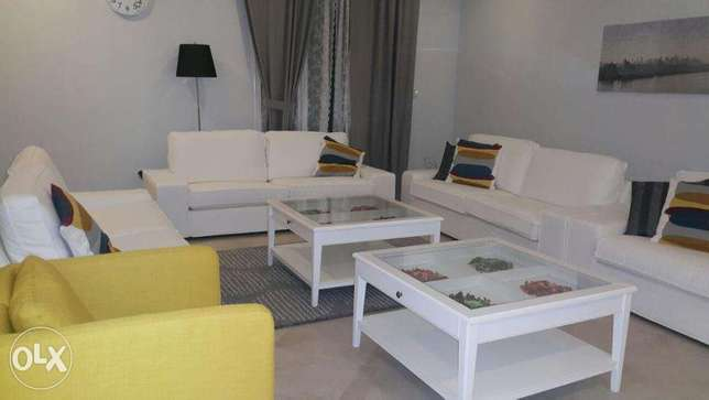 Furnished 2 bedroom apt in fintas with balcony.