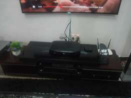 Top quality mahogany wood and marble top tv stand for sale