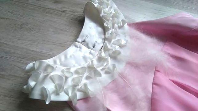 4fcaa6cc1f Sukienka bombka weselna piórka Różowa sukienka Sukienka na wesele Poraj -  image 5