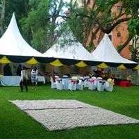 variety of tents,chairs tables and decor