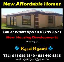 New Affordable Homes for sale