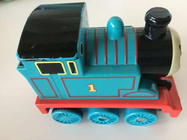 Thomas (talking & driving forward toy Train) and x 10 Story Books Norwood - image 2