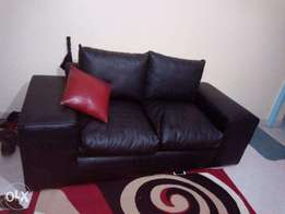 Two sitter genuine leather sofa