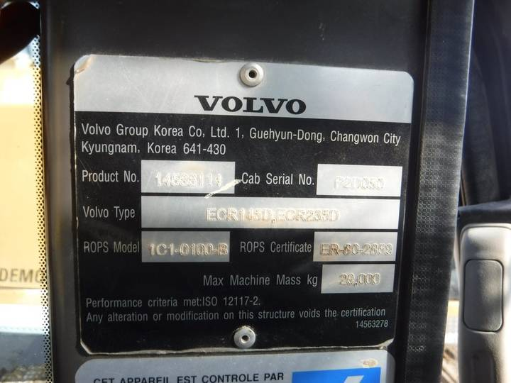 Volvo ECR145DL - 2013 - image 8
