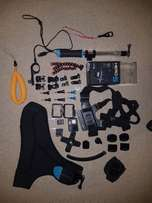 GoPro Hero 5 black with lots of extras. Great deal. Perfect conditon.