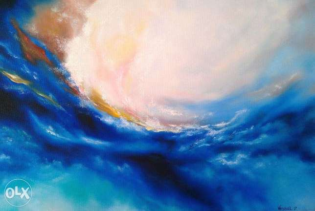Oil abstract, modern decor, painting for your home