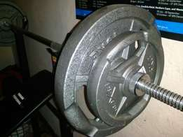 Gym weight and bench