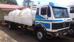 Merc 1617 ADE 366T Dropsides Watertanker 10000 liters Roofwork vvv