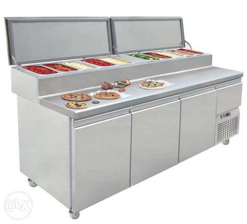Chiller with salad bar
