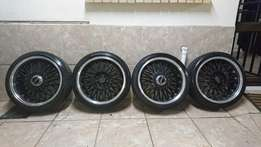 "Eagle Mags and tyres 17"" Tyres almost brand new"