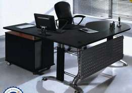 Glass executive office table