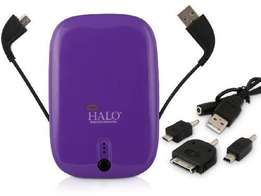 Halo Pocket Power 5500mAh Power Bank w/Mini USB Micro USB Cable & 30-P
