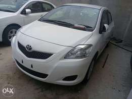 White 1.3L Freshly imported Belta model 2010 Toyota KCP