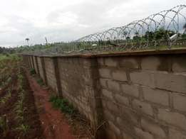 4 Plots of Land for Sale, fenced gated