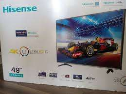 brand new hisense 49'' smart 4k tv