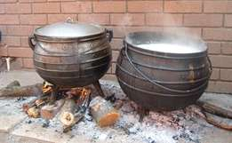 african pots hire and gas stove
