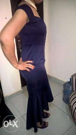 GORGEOUS Purple Large STRETCH Gown size 12-14 Wuse 2 - image 2