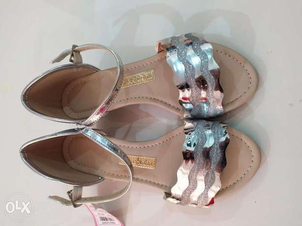 Silver Girls party wear SANDALS for sale