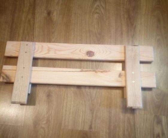 Barierka Ochronna Zabezpieczająca Do łóżka Drewniana łańcut