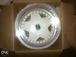 White Borbet 15inch 2off 4/100 and 108. Not a Set